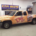 Deck Pro corporate full wrap with letter and logo