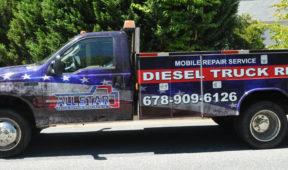 Diesel Truck Repair corporate work vehicle wrap