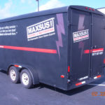 Maxsus corporate reflective trailer wrap