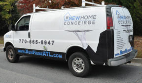 new Home Conceirge corporate Van wrap with logo and lettering