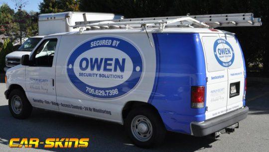 Owen Security corporate fleet wrap.