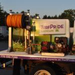 TurfPride corporate work truck wrap.