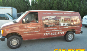US Cabinet Works corporate van wrap