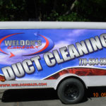 Weldons Duct Cleaning corporate traile and pick-up wrap.