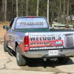 Weldon's heating and A/C corporate pick-up wrap.