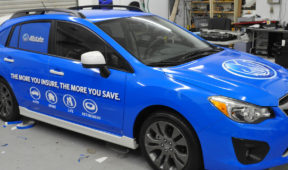 Allstate Insurance corporate SUV full wrap with windows