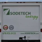 Sodetech Energy corporate trailer truck wrap