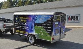 Windscreen corporate trailer wrap