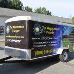 Windscreen corporate trailer wrap