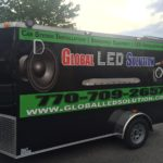 Global LED simplist corporate wrap with lettering