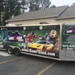 Game Cave corporate trailer wrap