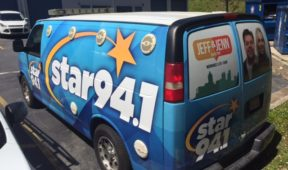 Star 94.1 custom full corporate wrap with logos, letterng, and hood.