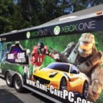 Game cave corporate trailer wrap.