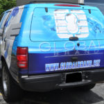 Global Managment Frim corporate wrap with hood logos, sides logos, windows, and lettering.
