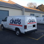 Cintas simlistic corporate wrap with lettering and logos